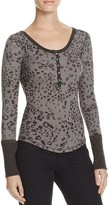Free People Davis Printed Thermal Top