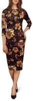 ECI Women's Floral Midi Dress