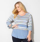 Avenue Variegated Heather Stripe Top