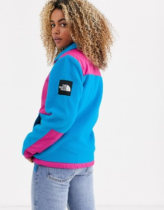 The North Face Denali fleece jacket in blue/pink