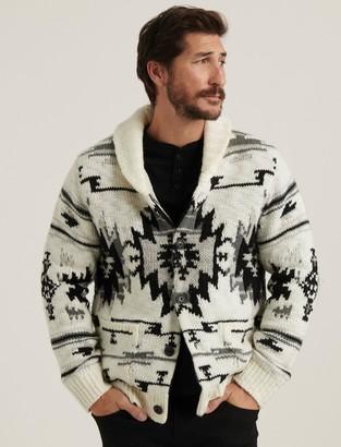 Lucky Brand Southwestern Sherpa Lined Shawl Cardigan