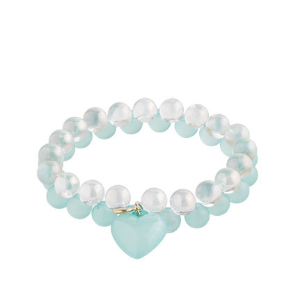 J.Crew Girls' seaglass & soap bubbles bracelet