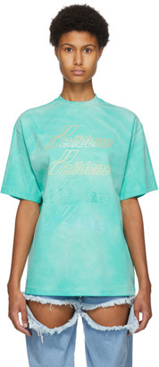 we11done Green Hand-Bleached T-Shirt