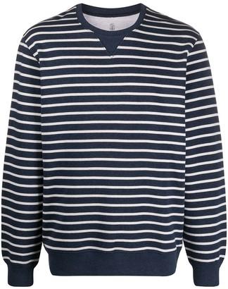 Brunello Cucinelli Striped Print Sweatshirt