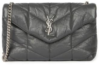 Saint Laurent Loulou Puffer Leather Crossbody Bag
