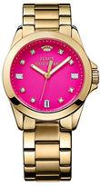 Juicy Couture Ladies Goldtone and Crystal Stella Watch