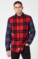 Modern Amusement Mixed Plaid Flannel Long Sleeve Button Up Shirt