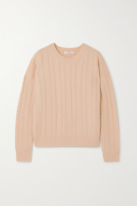 Max Mara Breda Cable-knit Wool And Cashmere-blend Sweater - Beige