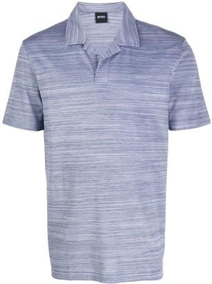 BOSS Open-Collar Polo Shirt
