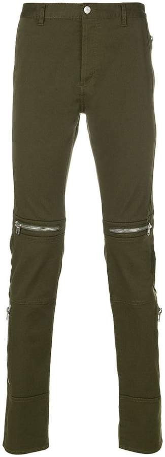 Givenchy zip detail biker jeans