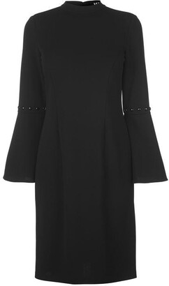 DKNY Occasion Occasion Balloon Pearl Sleeve Dress Ladies