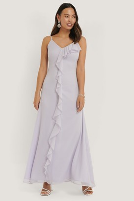 NA-KD Thin Strap Ruffle Detail Dress