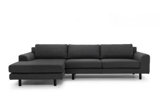 Calibre Furniture Masters Modular Sofa Charcoal Left Chaise