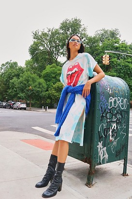 Daydreamer X Free People Rolling Stones 89 Rolled Sleeve Maxi Top