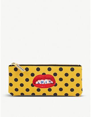 Seletti wears Toiletpaper Sh*t-print faux-leather pencil case