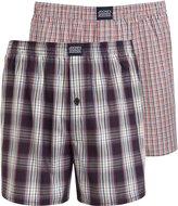 Jockey Men's 2-Pack Plaid & Check Print Woven Boxer Shorts
