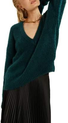 LES COYOTES DE PARIS Mohair V-Neck Sweater