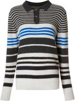 The Elder Statesman cashmere striped jumper - women - Cashmere - S