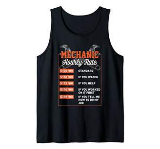 Mechanic Hourly Rate Gift Shirt Mechanic Labor Rates Mens Tank Top