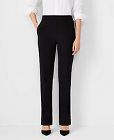 Ann Taylor The Petite Side-Zip Straight Pant in Bi-Stretch