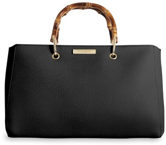 Katie Loxton Avery Bamboo Handle Tote Bag - Black