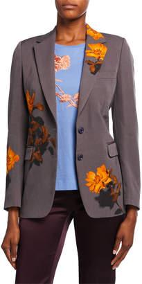 Dries Van Noten Floral-Print Blazer Jacket