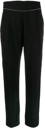 MSGM Rhinestone Embellished Tapered Trousers