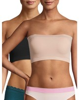 No Boundaries Women's Seamless Bandeau Bralette 2-Pack, NB1940