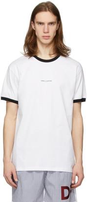 Daniel W. Fletcher White Logo Ringer T-Shirt