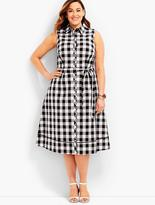 Talbots Womans Exclusive Gingham Shirtdress