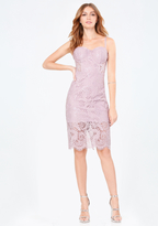 Bebe Lace Bustier Midi Dress