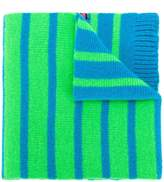 Paul Smith reversible neon stripe scarf