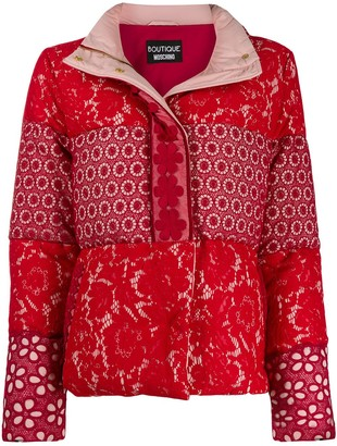Boutique Moschino Multi-Print Padded Jacket