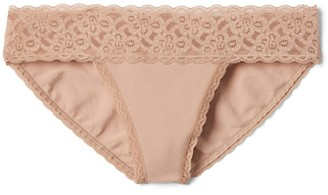 Gap Stretch Cotton & Lace Bikini