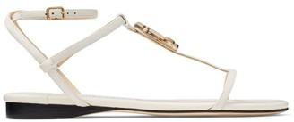 Jimmy Choo Alodie Flat Nappa Leather Sandals