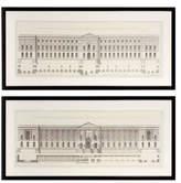 Eichholtz Set Of 2 Prints Ec186 La Façade Du Louvre