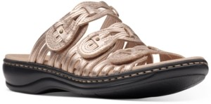 Clarks Collection Women's Leisa Faye Flat Sandals Women's Shoes
