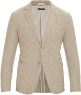 Giorgio Armani Woven cotton and linen-blend blazer
