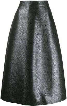 Odeeh Shimmery Midi Skirt