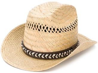 Saint Laurent Kate paille straw hat