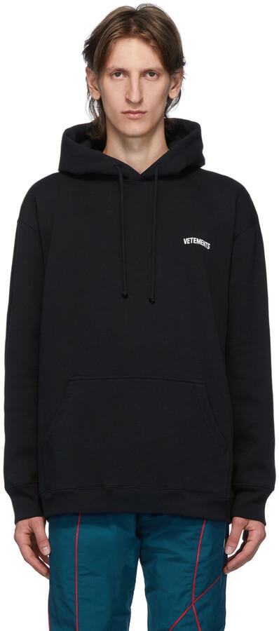 Vetements Black Logo Hoodie