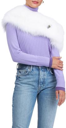 Carolyn Rowan Fox Fur Shawl