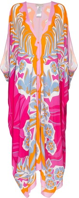 Emilio Pucci floral pattern kaftan maxi dress