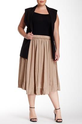 Philosophy di Lorenzo Serafini Crinkle Midi Skirt (Plus Size)