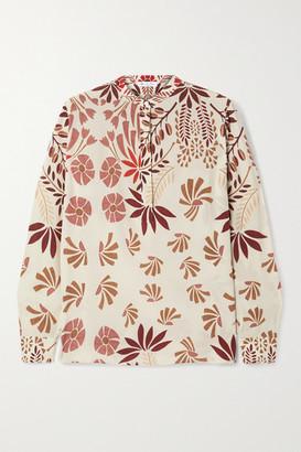 Loro Piana Floral-print Silk-crepe Blouse - Off-white