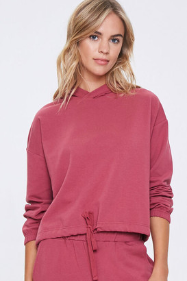 Forever 21 Hooded French Terry Top