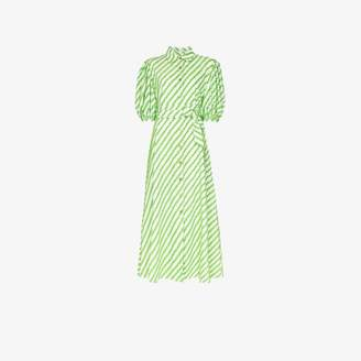 Evi Grintela Womens Green Iris Striped Maxi Dress