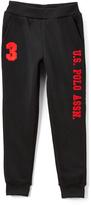 U.S. Polo Assn. Black & Red 'U.S. Polo' Sweatpants - Boys