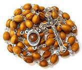 Olive wood Rosary with Holy Land earth - Soil - With Certificate of Authenticity by Bethlehem Gifts TM