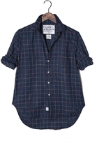 Frank And Eileen Womens Limited Edition Eileen Linen Windowpane Shirt